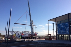 Oran Park ETFE Library in Construction