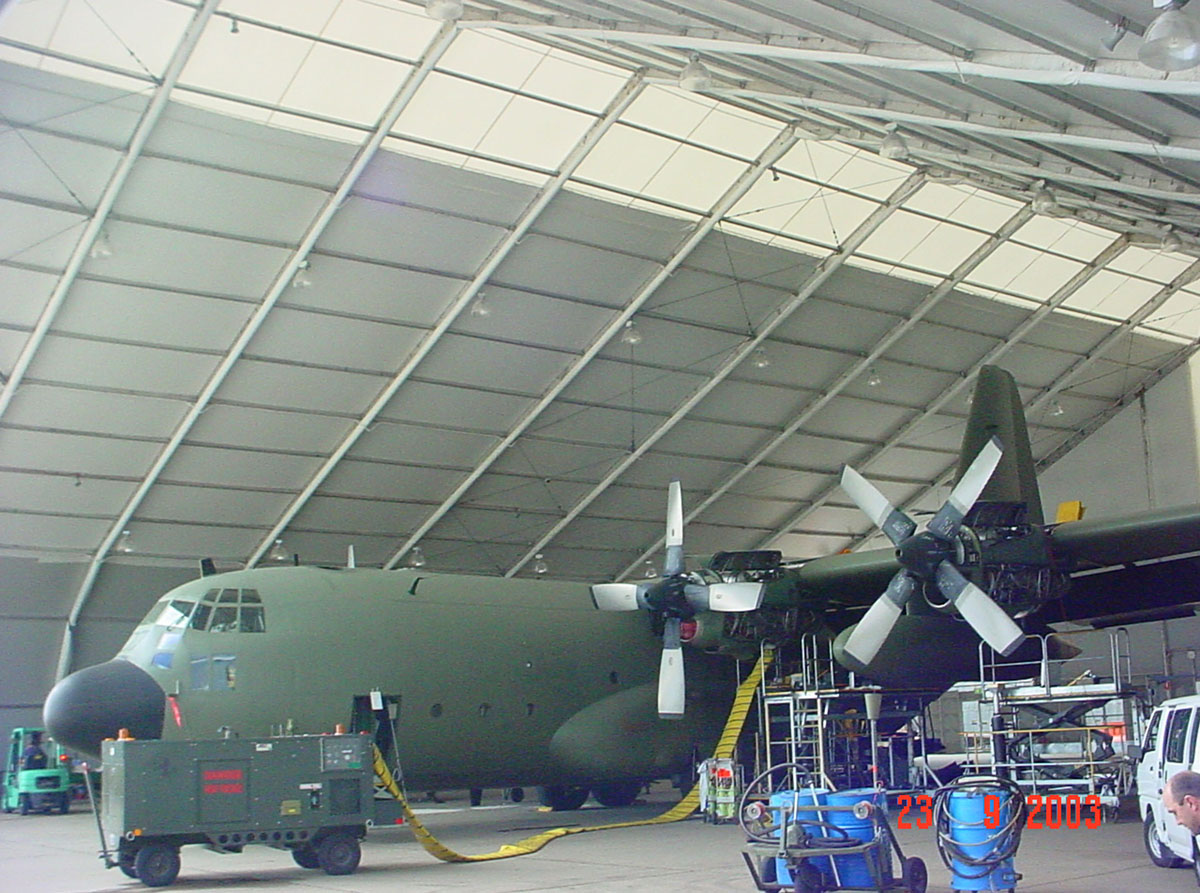 RAAF, Fabritecture, aviation hangar, fabric structure