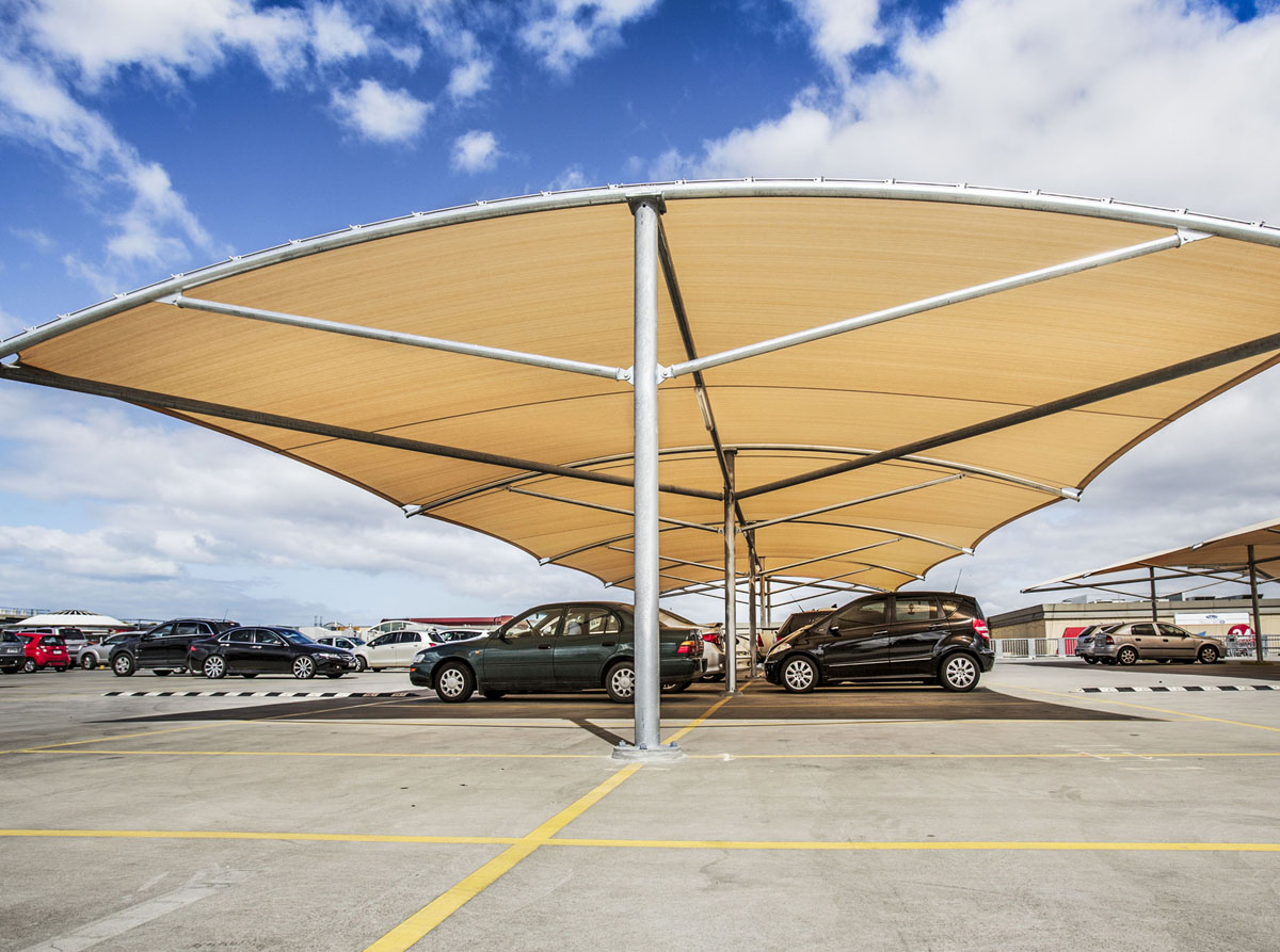 Fabritecture, Werribee Plaza, fabric structure, car park