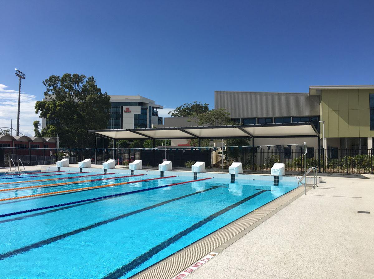 Griffith university pool fabritecture aquatic shade - Griffith university gold coast swimming pool ...