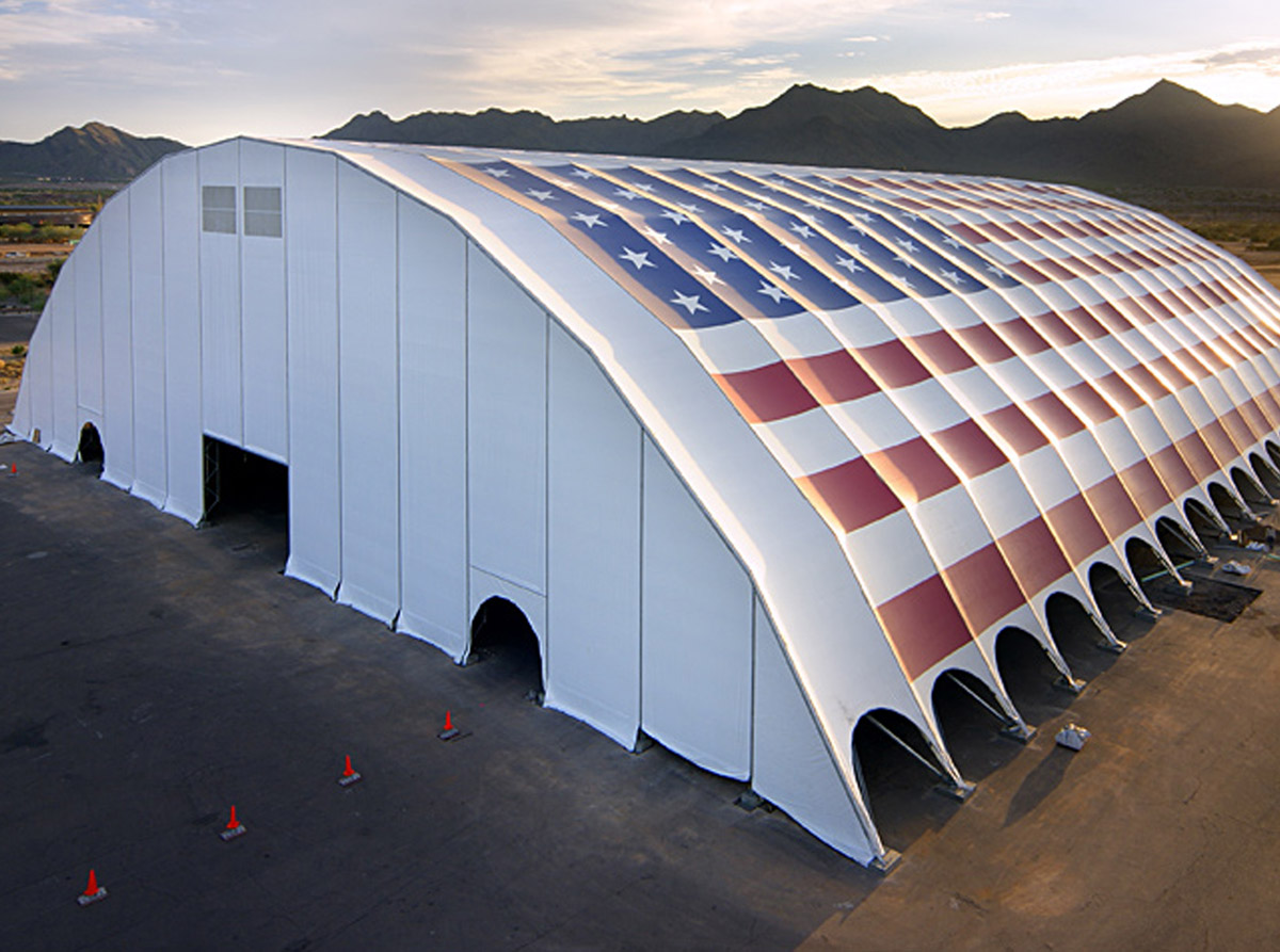 Fabritecture, supa-span arched, Bakersfield, fabric structure