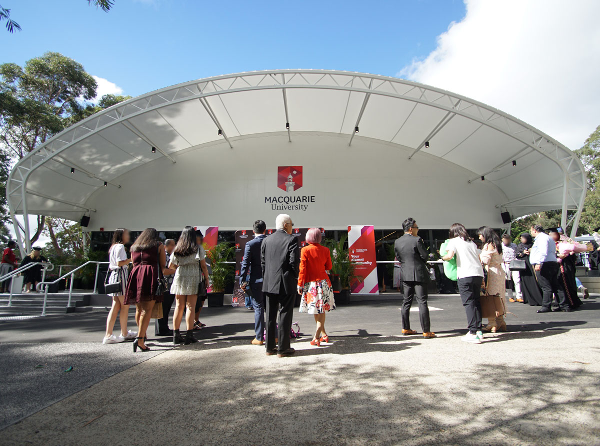 Macquarie University Events Marquee Fabritecture